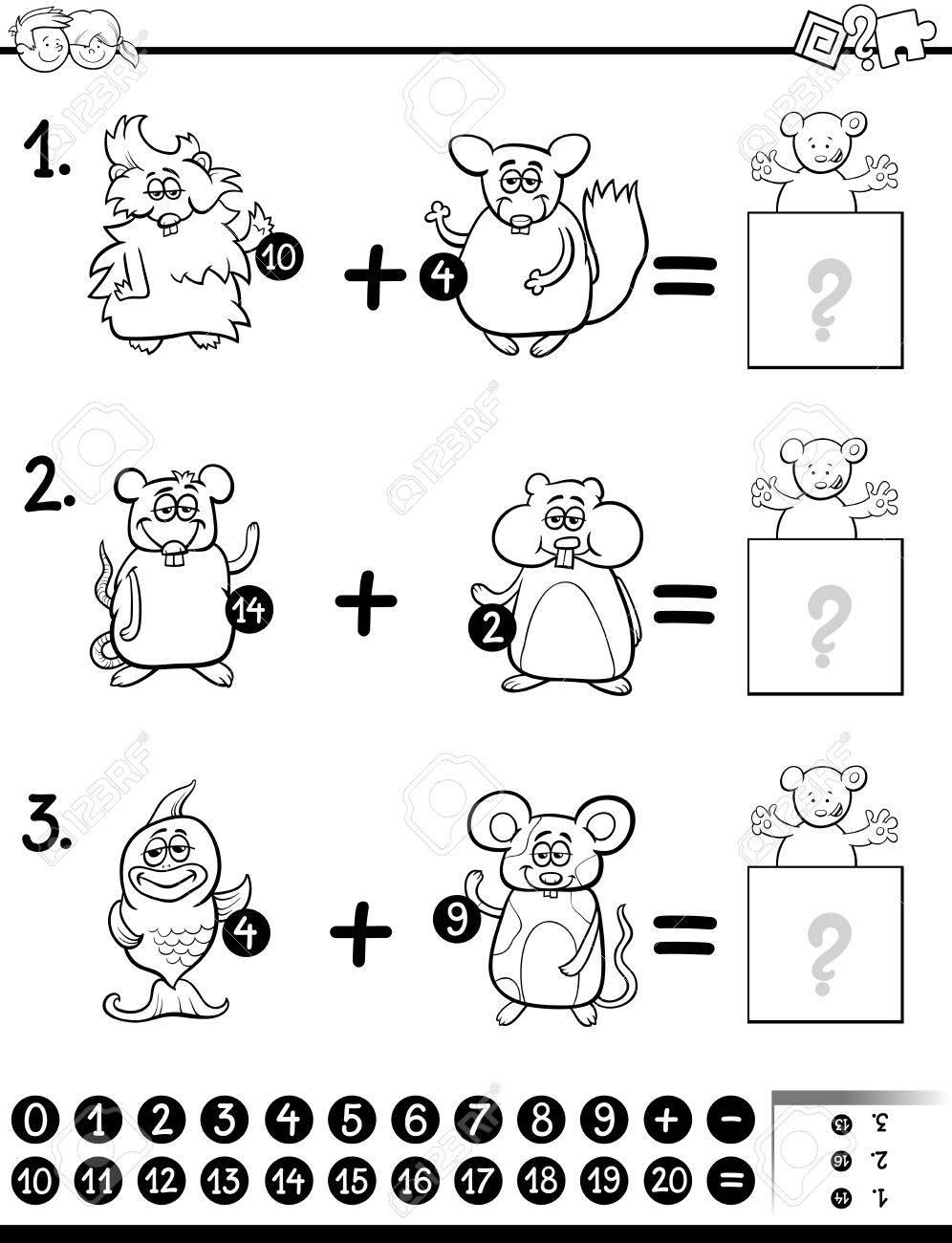Ilustracion De Dibujos Animados En Blanco Y Negro Del Juego De