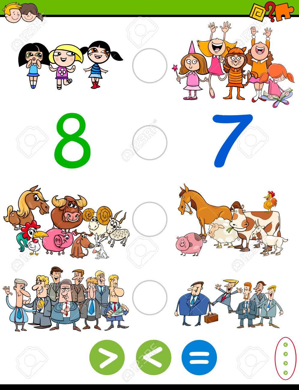 Cartoon Illustration Von Pädagogische Mathematische Aktivität Spiel ...