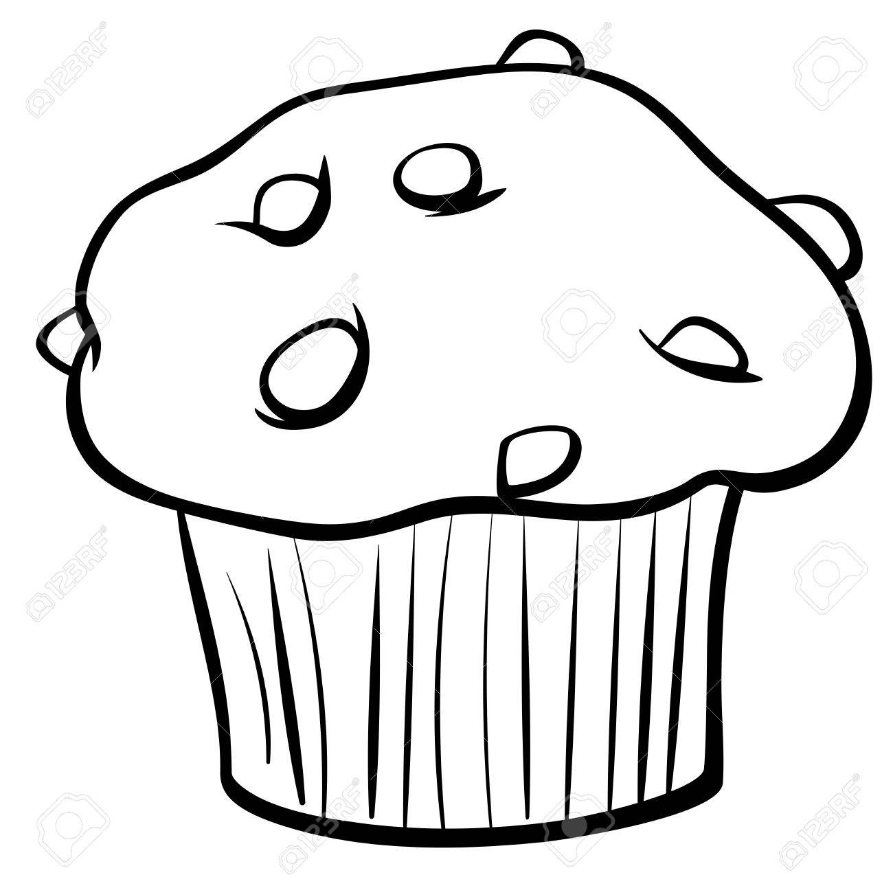 black and white cartoon illustration of sweet muffin cake with rh 123rf com muffin clip art free muffin clip art free