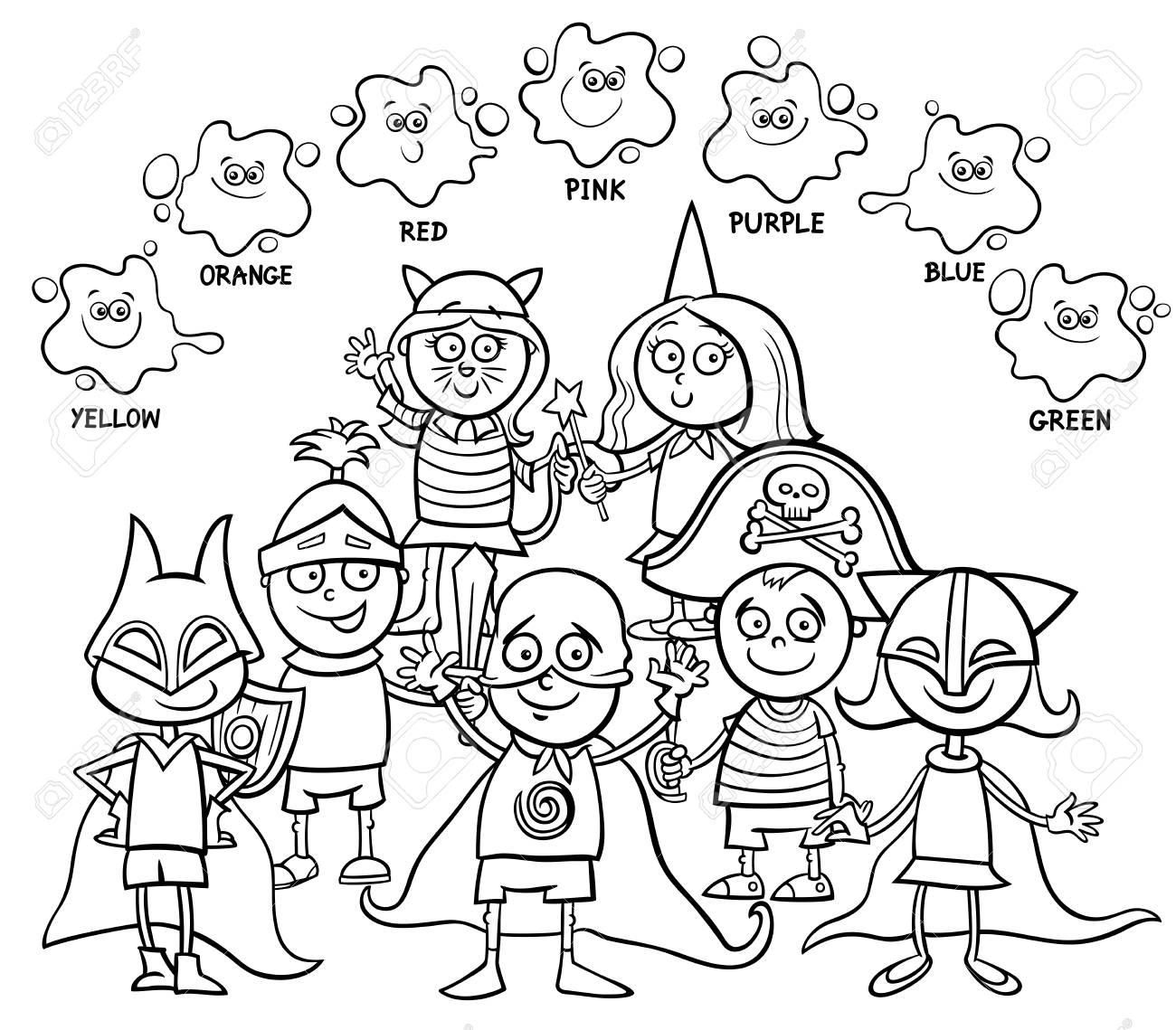 Vettoriale Illustrazione In Bianco E Nero Del Fumetto Di Attività