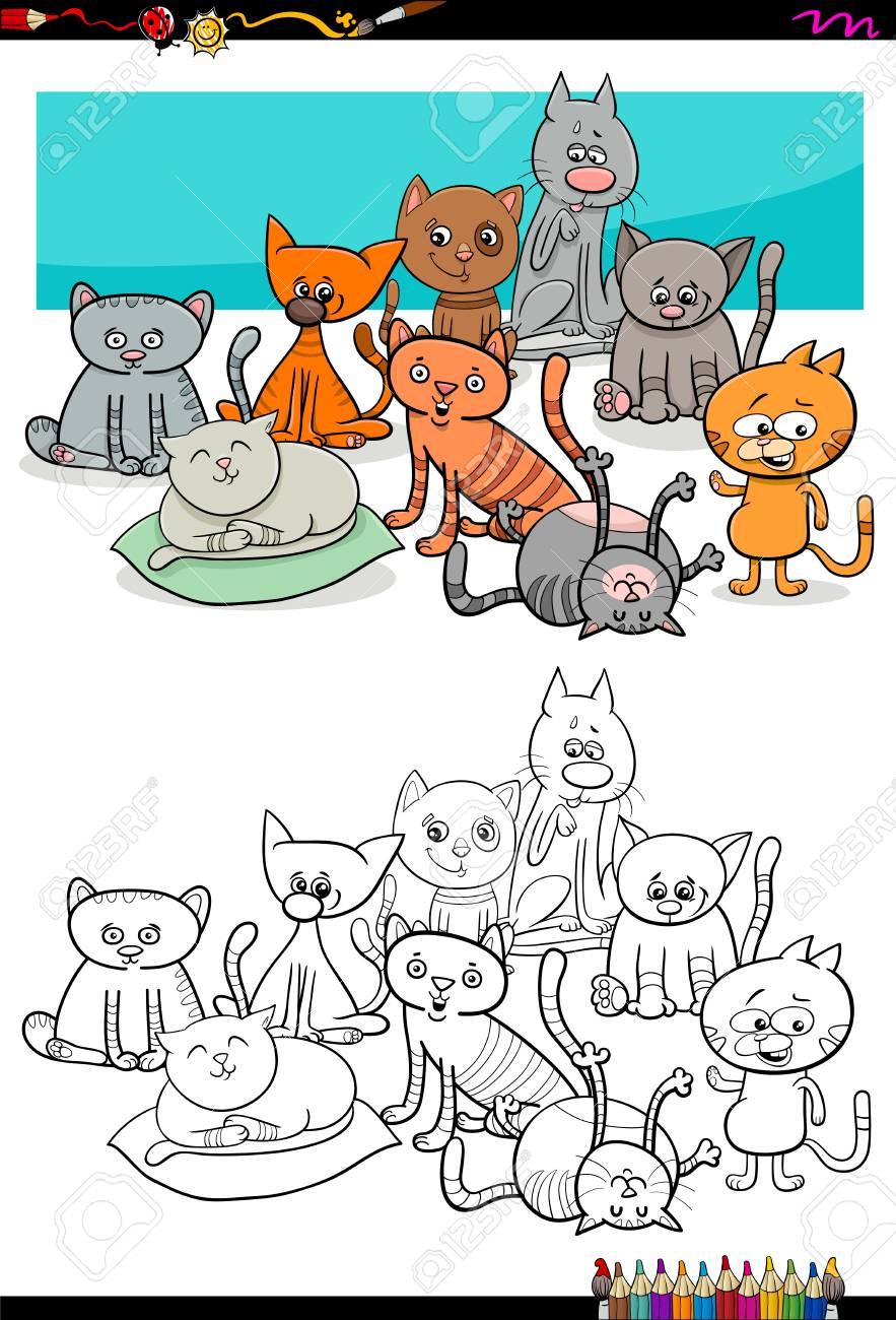 Ilustracion De Dibujos Animados De Los Ninos Del Animal Para