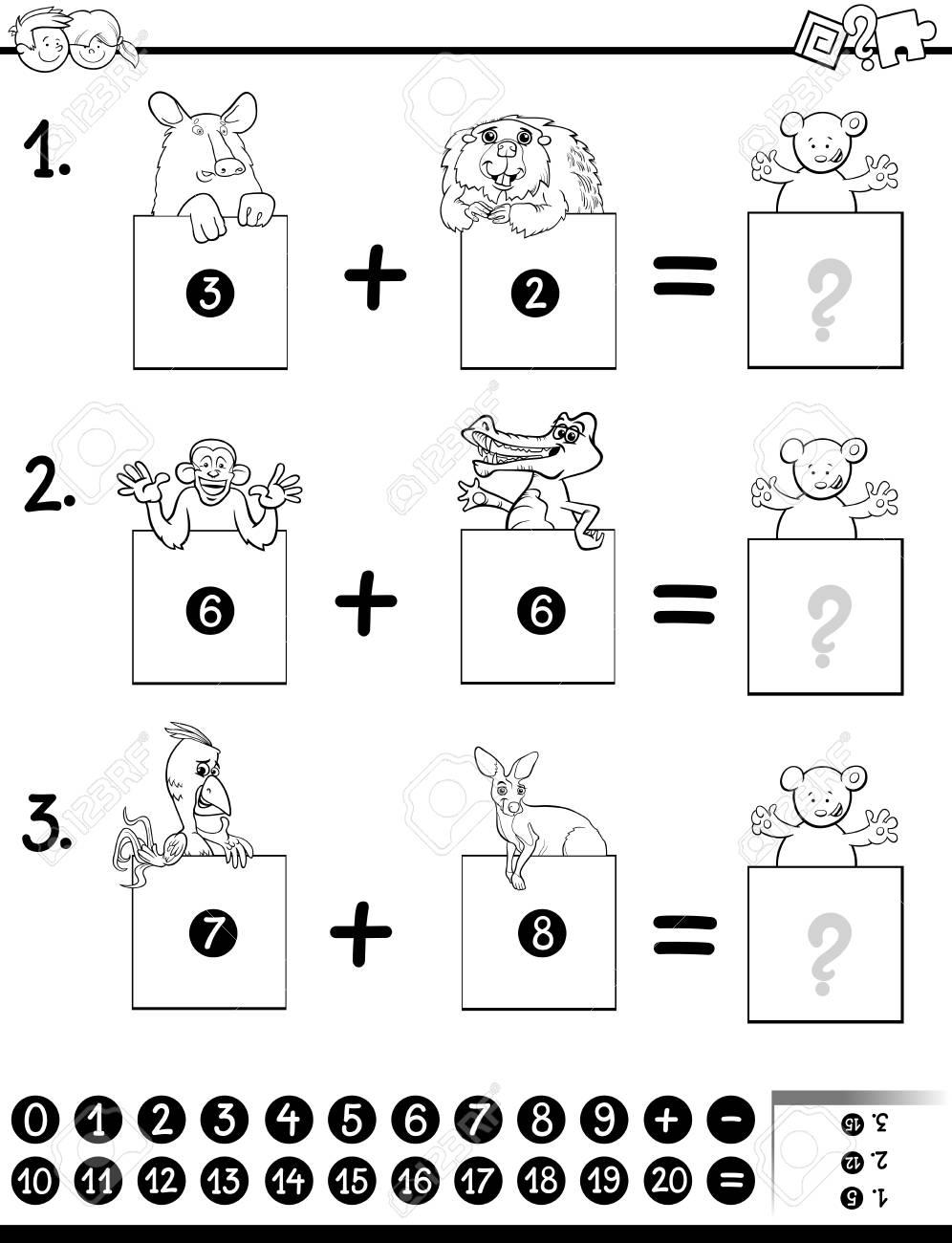 Ilustración De Dibujos Animados En Blanco Y Negro Del Juego De