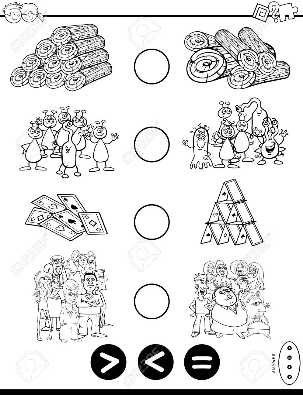 Ilustración De Dibujos Animados Blanco Y Negro De La Actividad