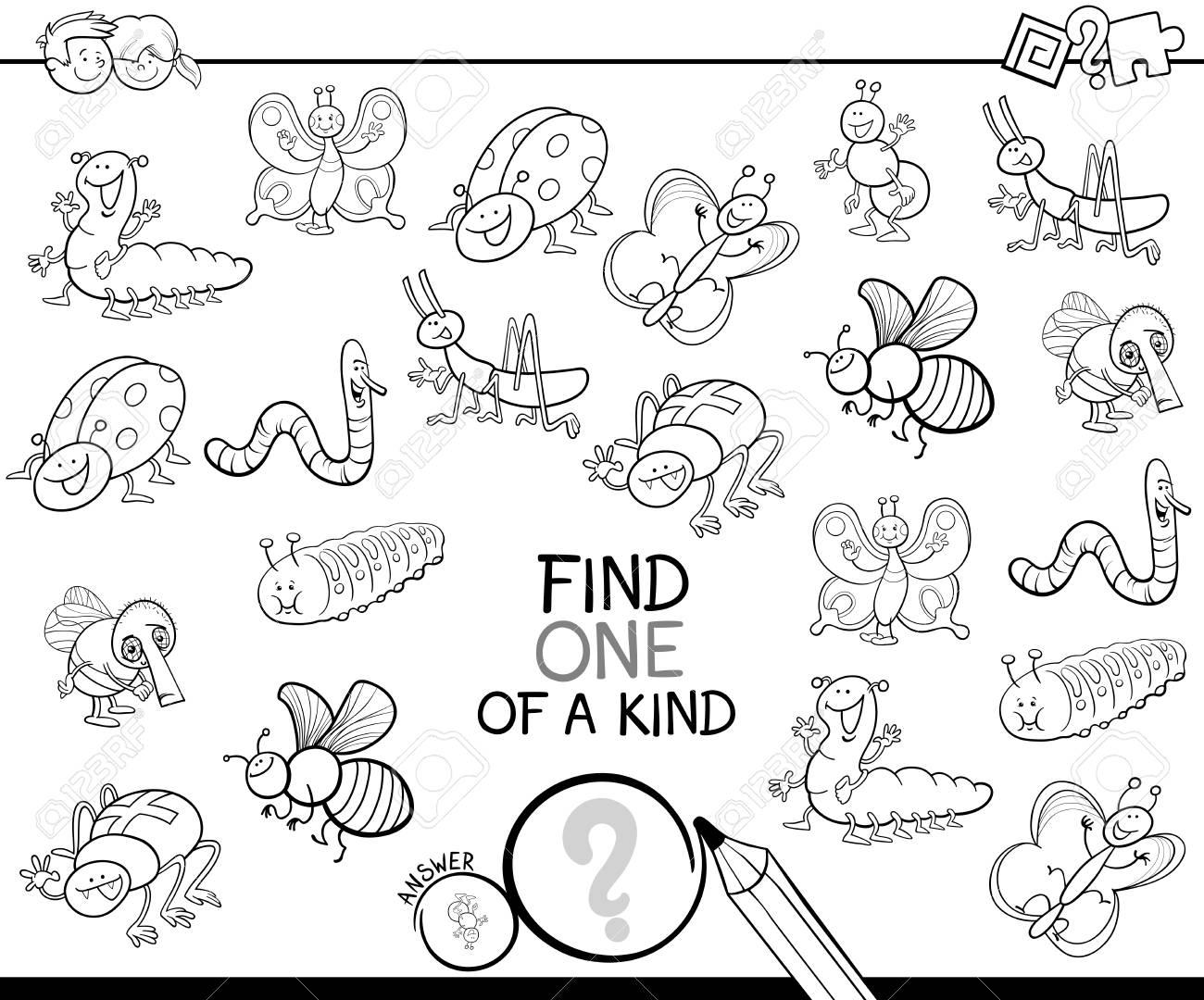 Ilustracao A Preto E Branco Dos Desenhos Animados De Encontrar Um