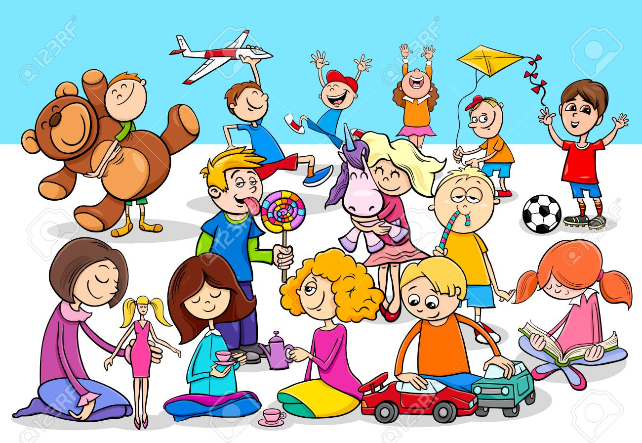 Cartoon Illustration Of Preschool Or School Age Children Characters Royalty Free Cliparts Vectors And Stock Illustration Image 101286454
