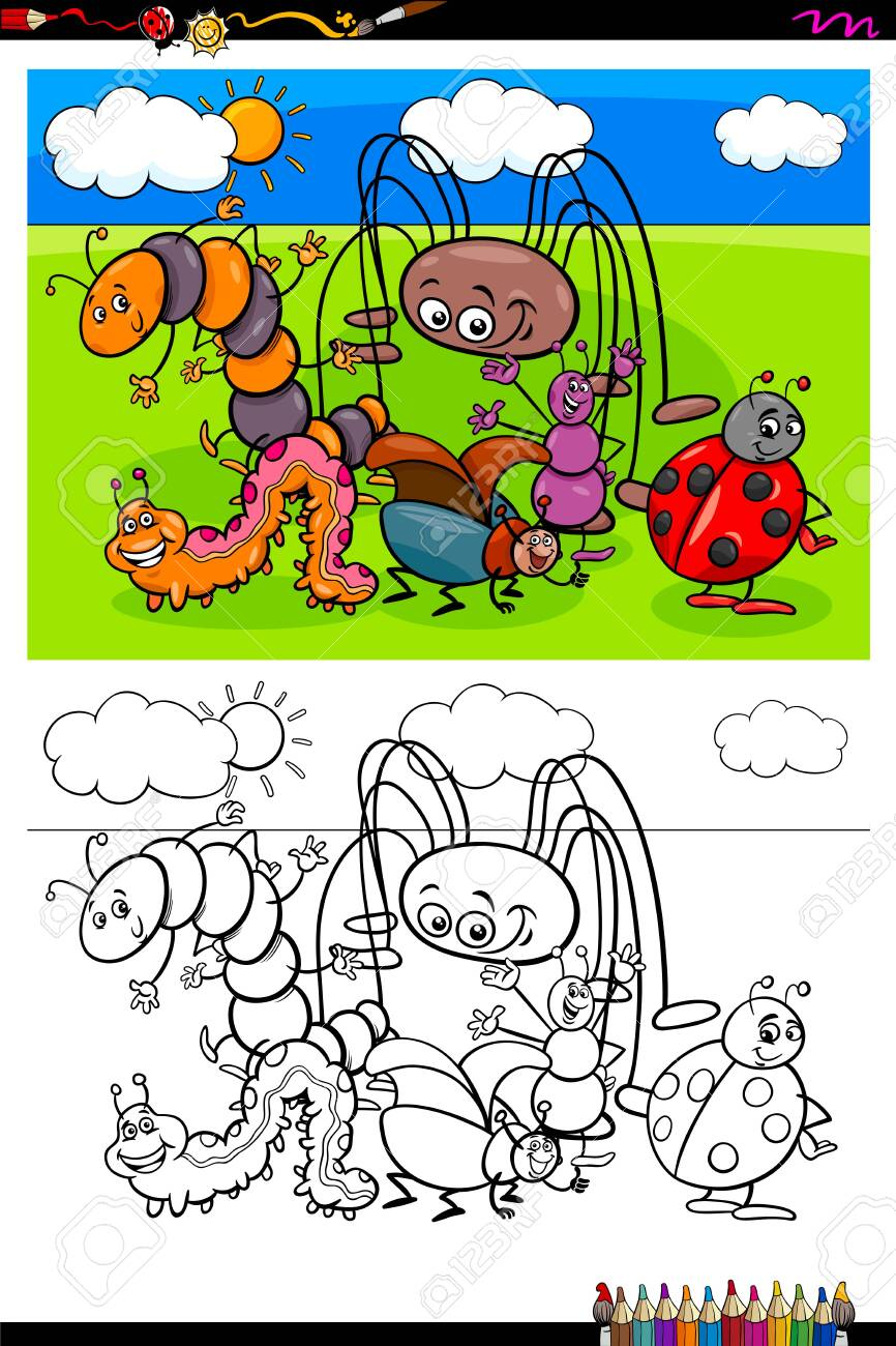 - Cartoon Illustration Of Funny Insects And Bugs Animal Characters