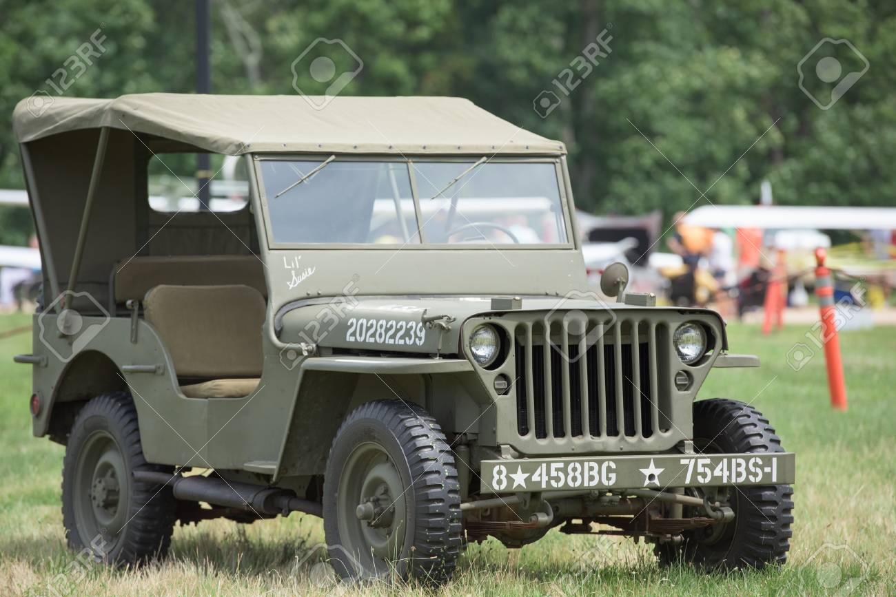 vintage usa army jeep from ii world war stock photo picture and