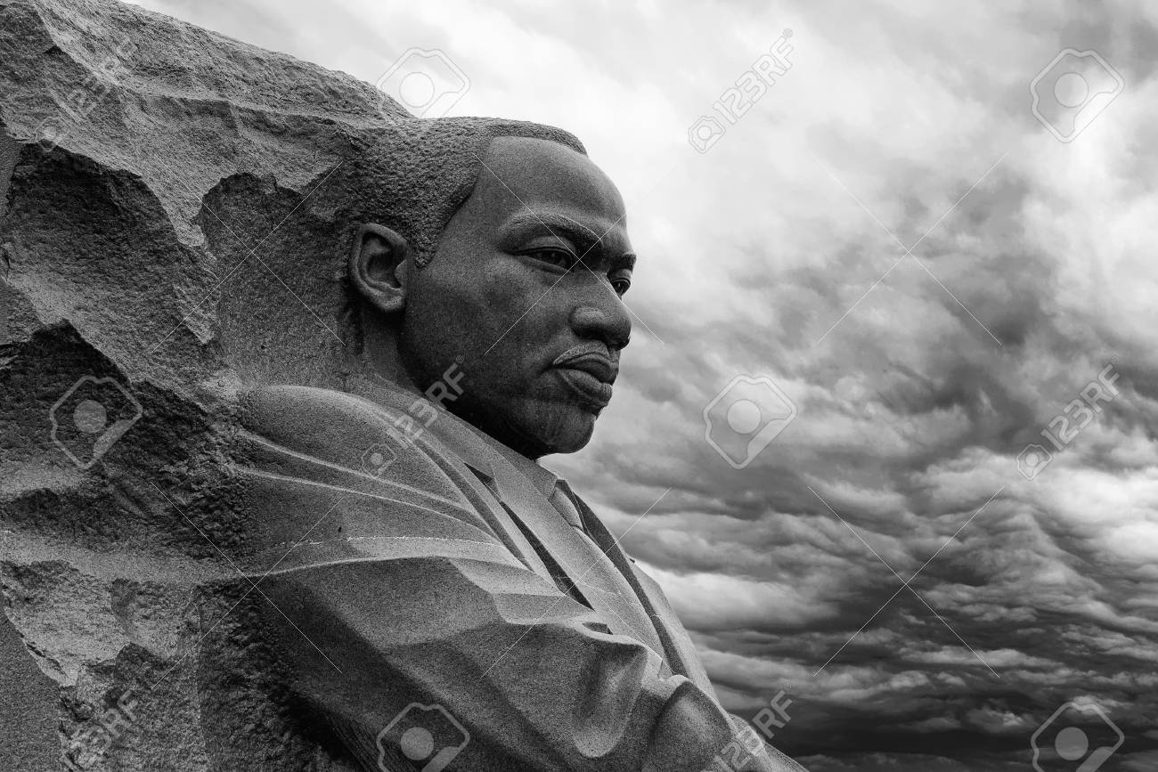 WASHINGTON DC, USA - MAY 17 2018 - martin luther king memorial on cloudy day - 102537485