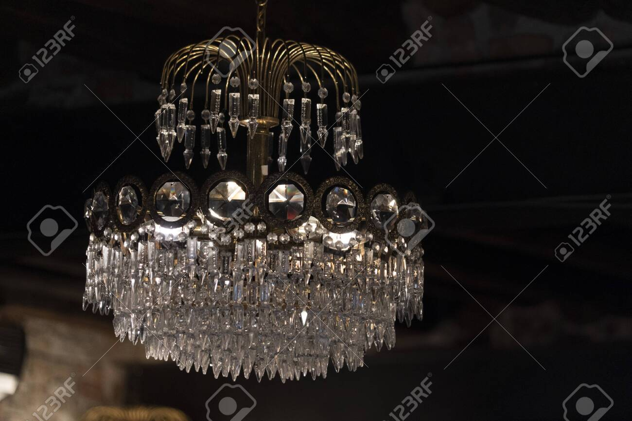 Venice Murano Glass Close Up Detail Chandelier Isolated On Black Stock Photo Picture And Royalty Free Image Image 132319697
