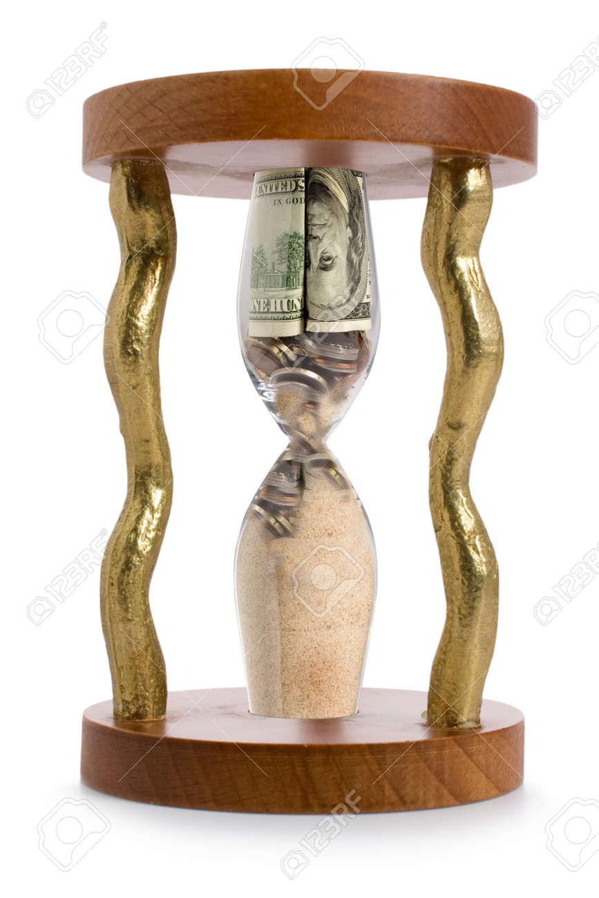 hourglass and financial crisis on sand - 5016367