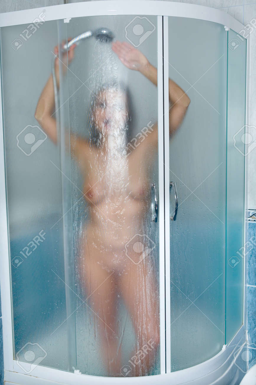 Young girl take shower Stock Photo - 5128472