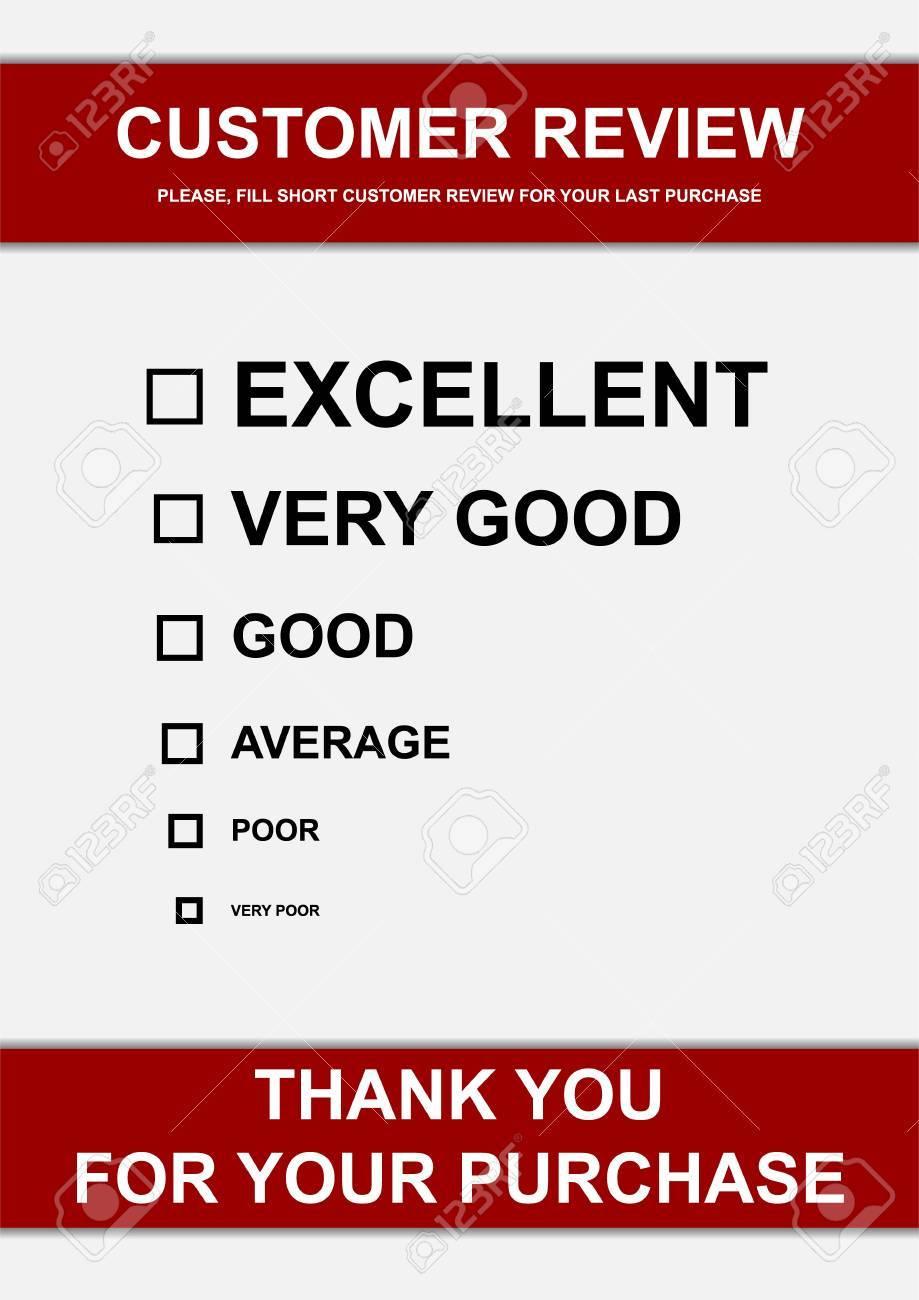 Vector illustration of customer review form Stock Illustration - 12928856