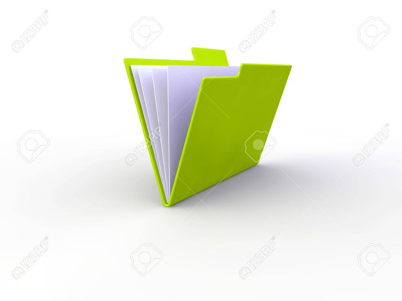 Office folder 3d illustration Stock Illustration - 9146328