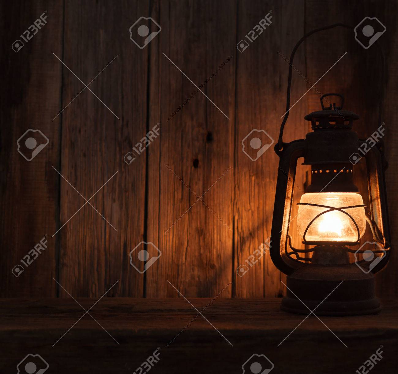 Lantern Lamp Light Dark Wooden Wall Table Background Stock Photo Picture And Royalty Free Image Image 39078207