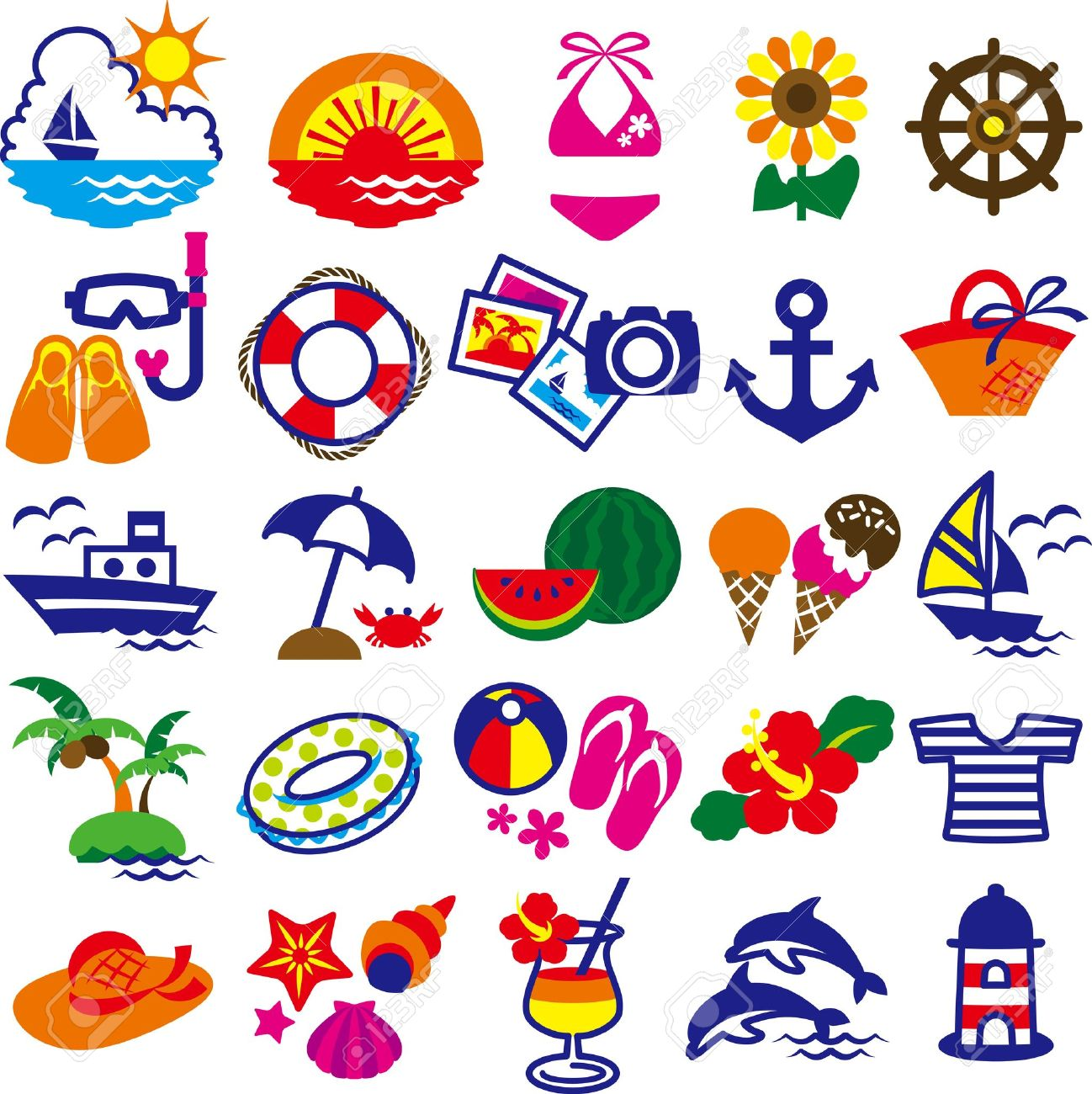 clip art summer royalty free cliparts vectors and stock rh 123rf com summer vector freepik summer vector art