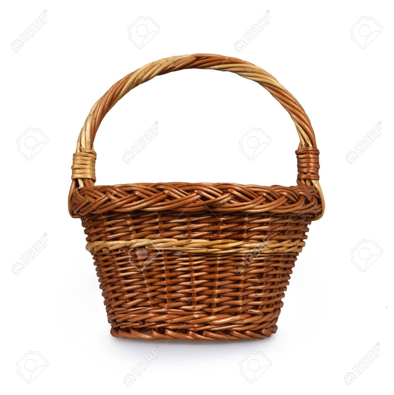 Wicker basket isolated on white background - 131820615