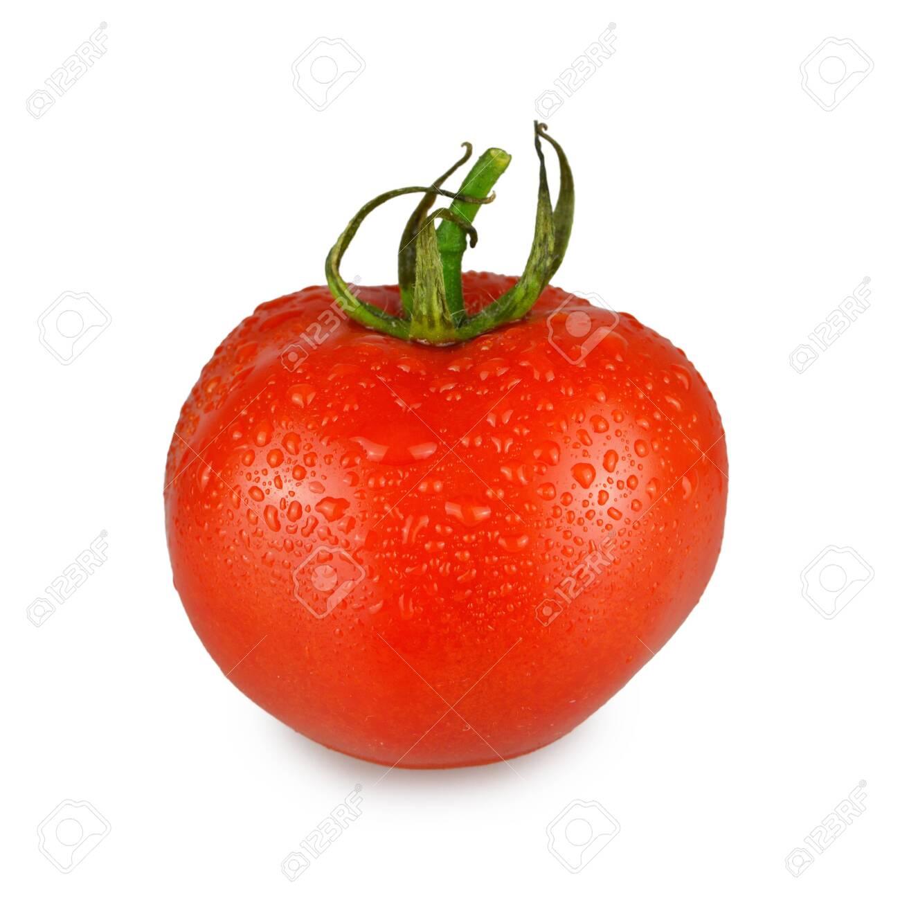 Fresh tomato isolated on white background - 147153605
