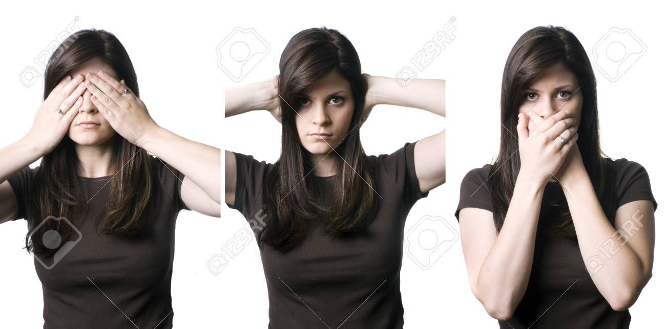 A young woman indicating the popular phrase, Stock Photo - 8598358