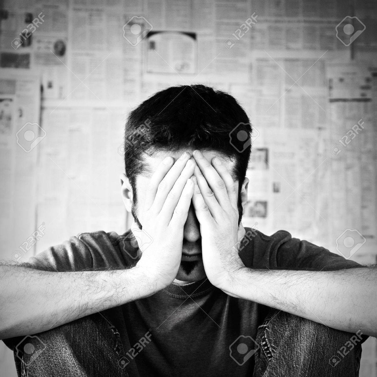 A young man overwhelmed with bad news. Stock Photo - 11110822