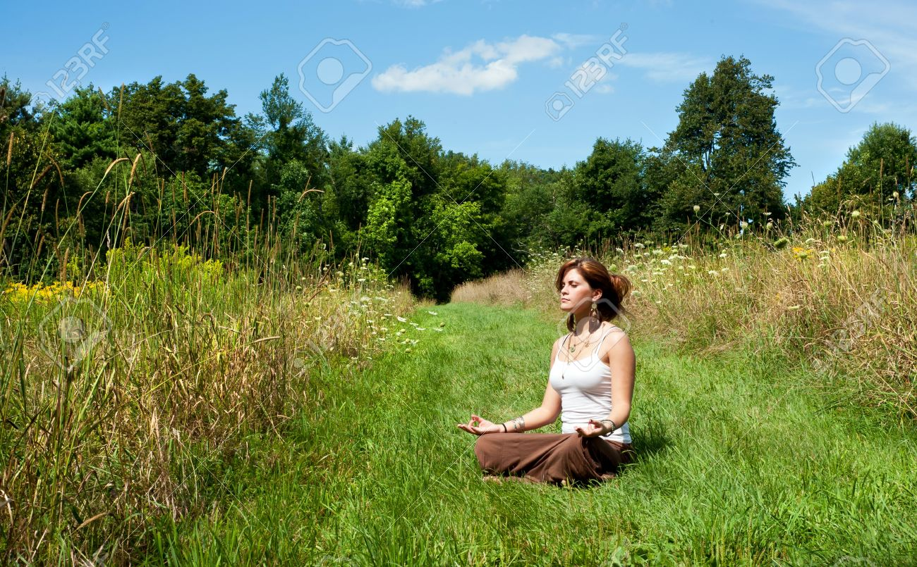 Nature Stock Photography Stock Photo Young woman in