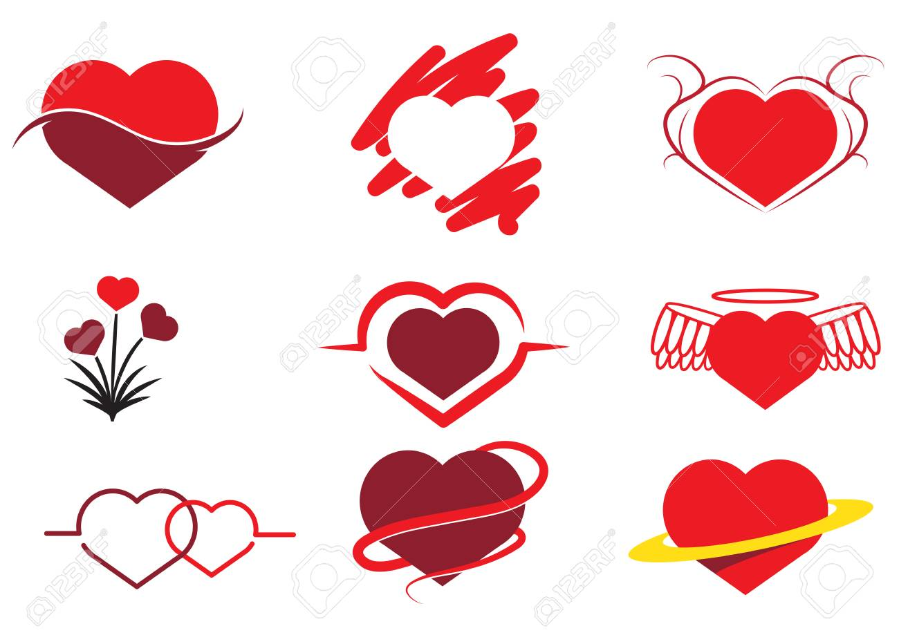 Collection of Abstract heart - 35523865