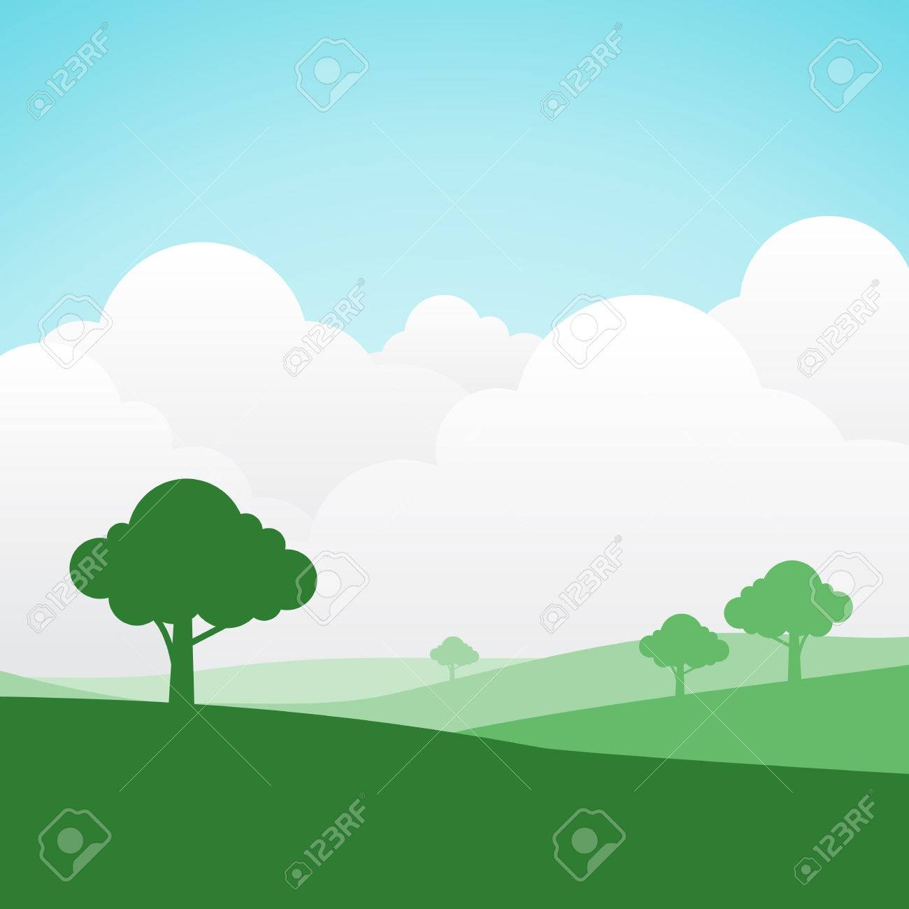 simple and colorful silhouette summer landscape background for rh 123rf com