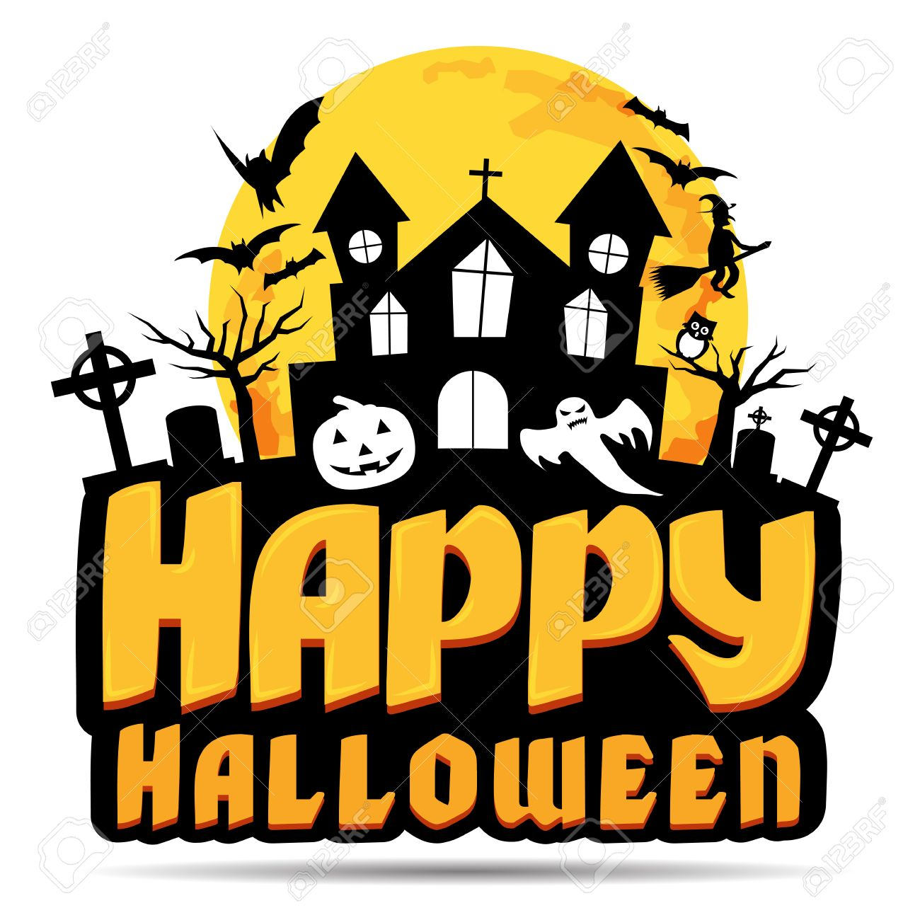 Happy Halloween Logo. Vector Illustration. Royalty Free Cliparts, Vectors, And Stock Illustration. Image 48691005.