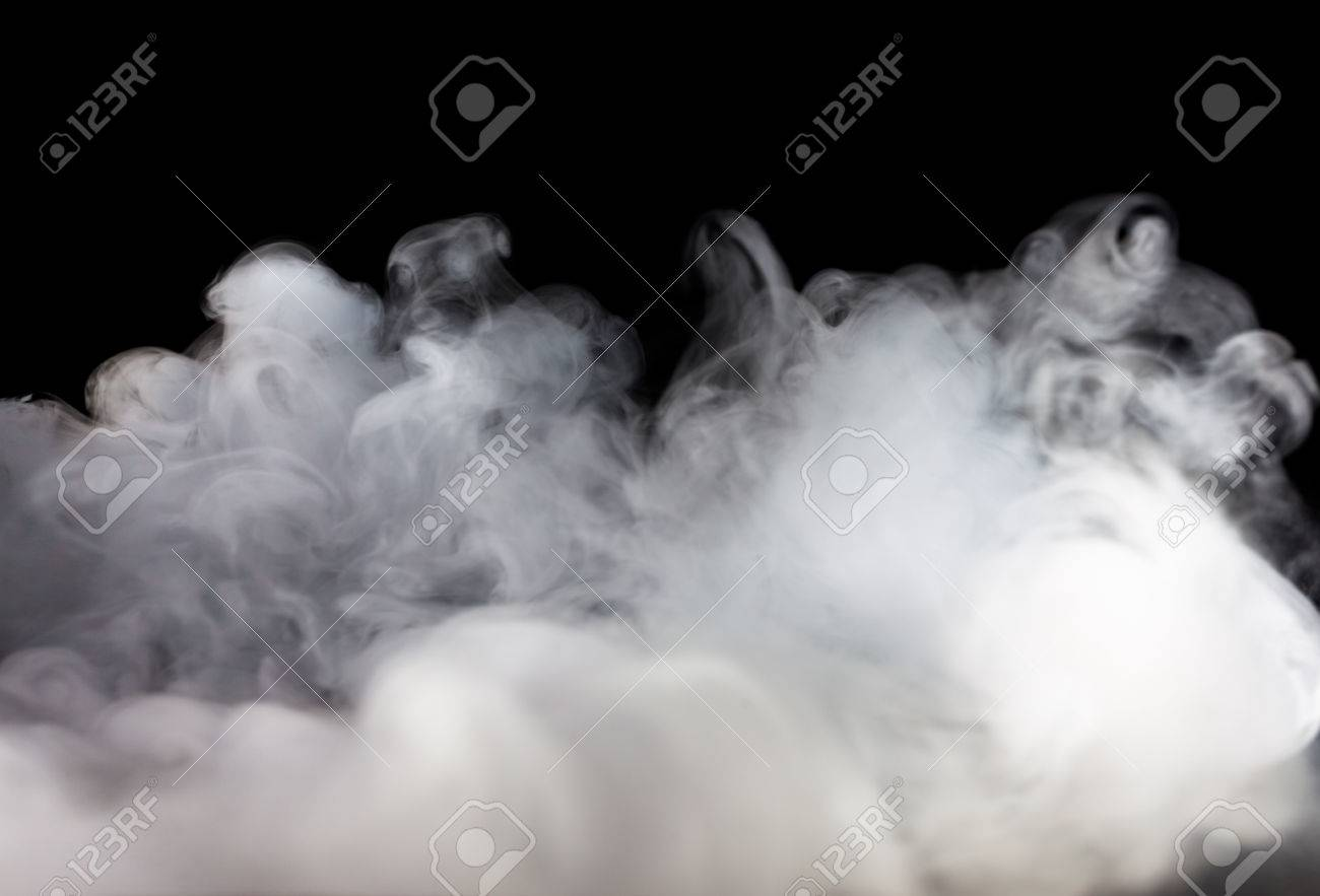 Abstract fog or smoke move on black color background - 50879967