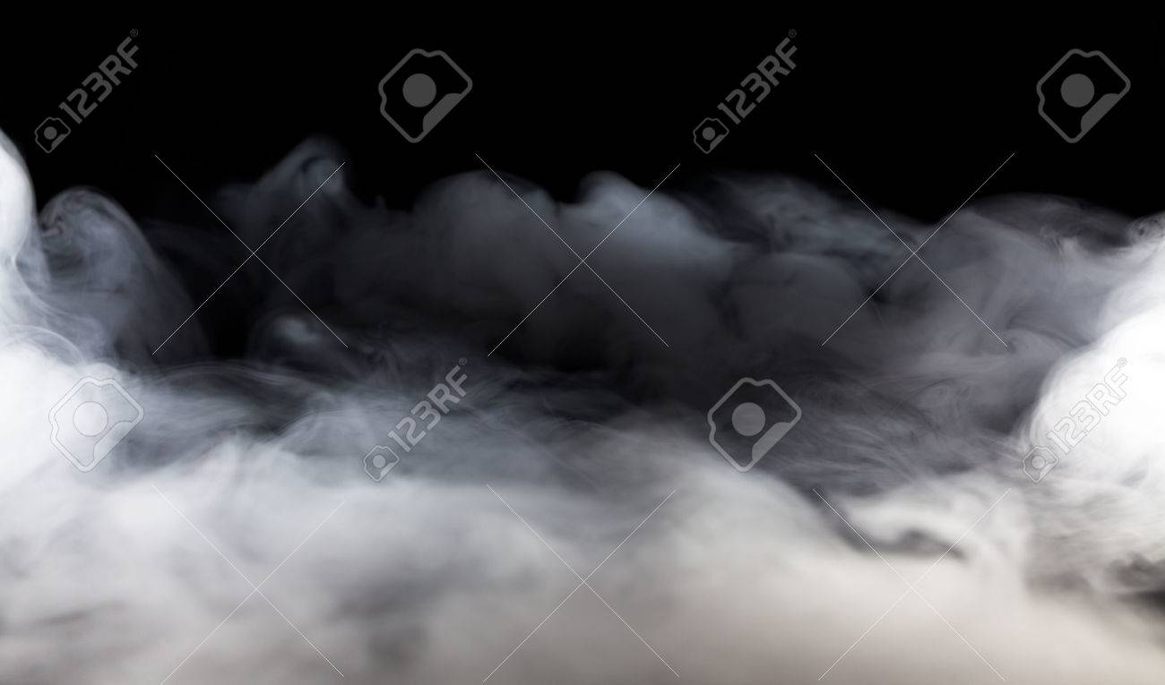 Abstract fog or smoke move on black color background - 50880604