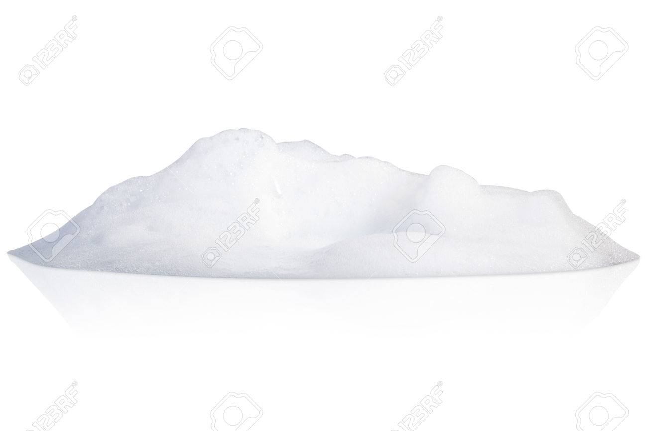 white foam bubbles texture isolated on white background - 77190856