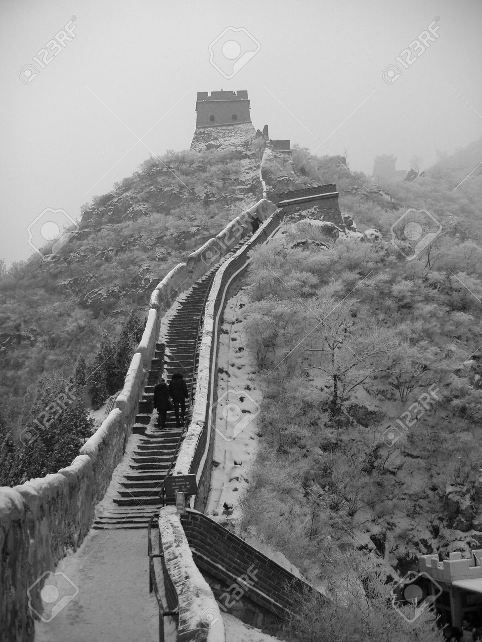 Great wall of China in the snow in the Jurongguan side Beijing Stock Photo - 3499065