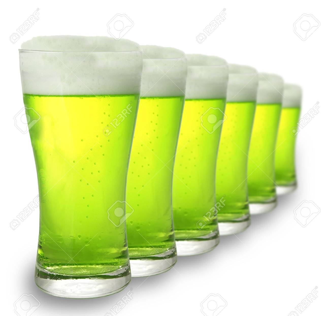 Green beer for St Patrick's Day Stock Photo - 2614046