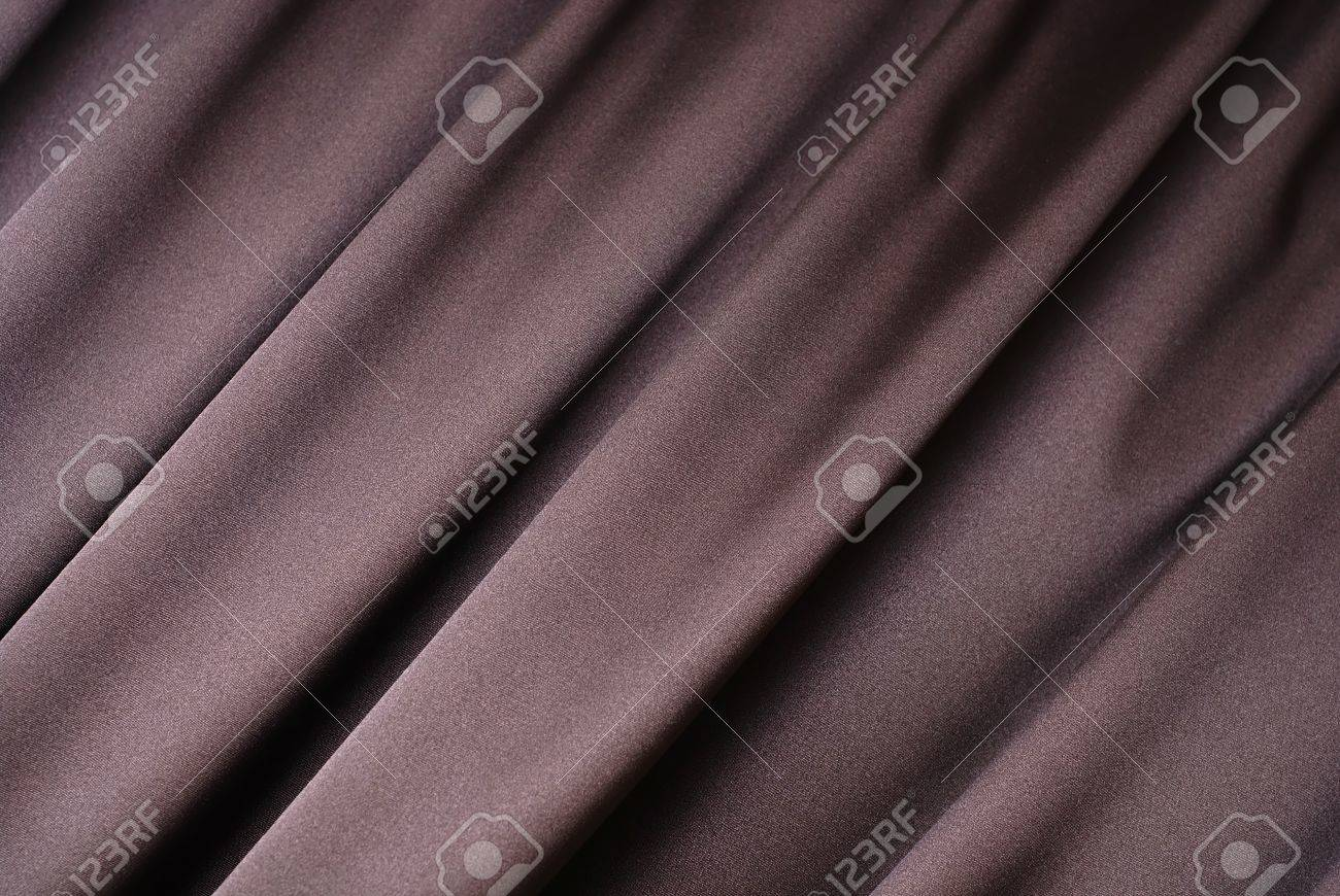 Brown curtain background Stock Photo - 4421483