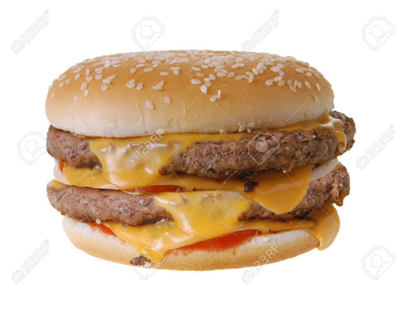 Double cheeseburger isolated on white background Stock Photo - 5793041