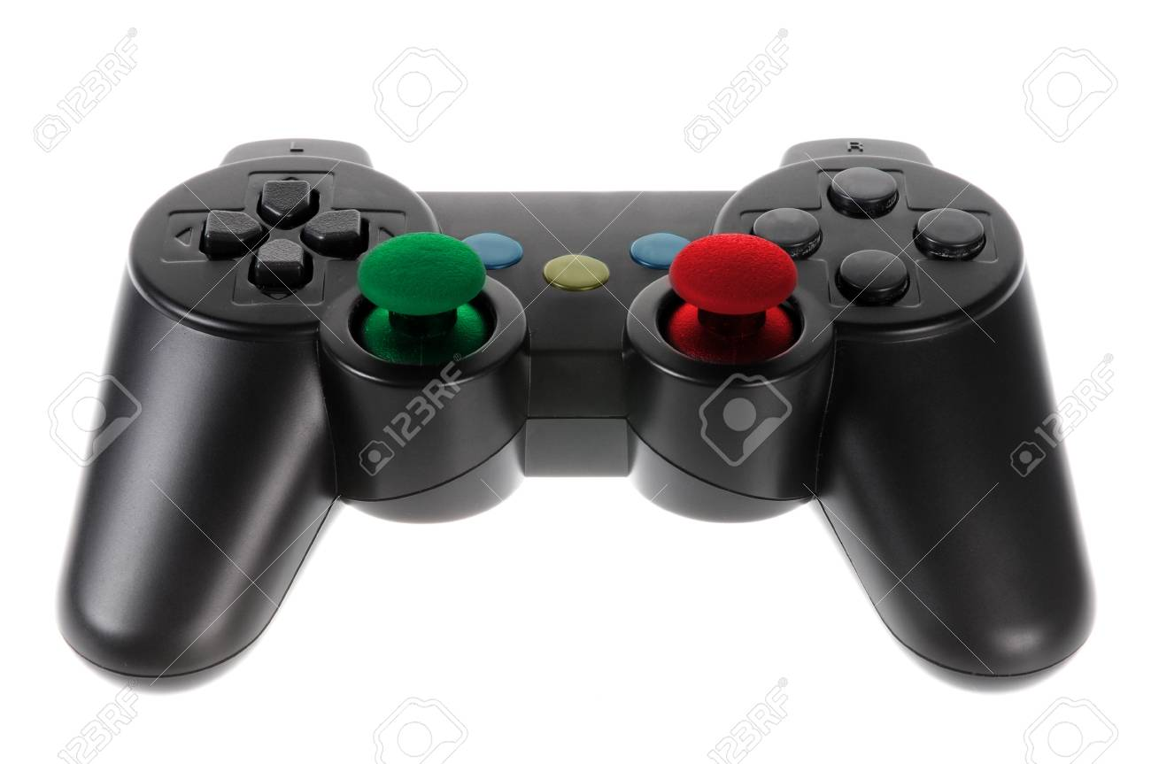 Game controller isolated on white background Stock Photo - 9141231