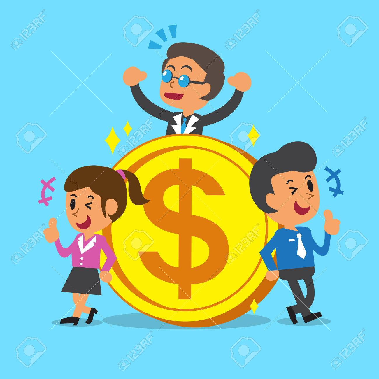Business concept business team with a big coin - 45018092