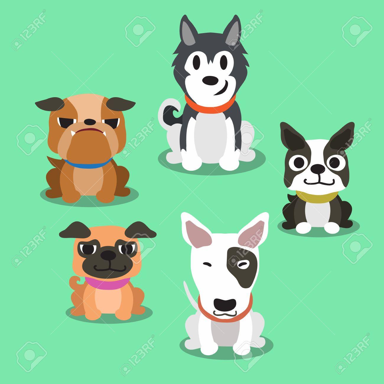 Cartoon dogs standing - 47263245