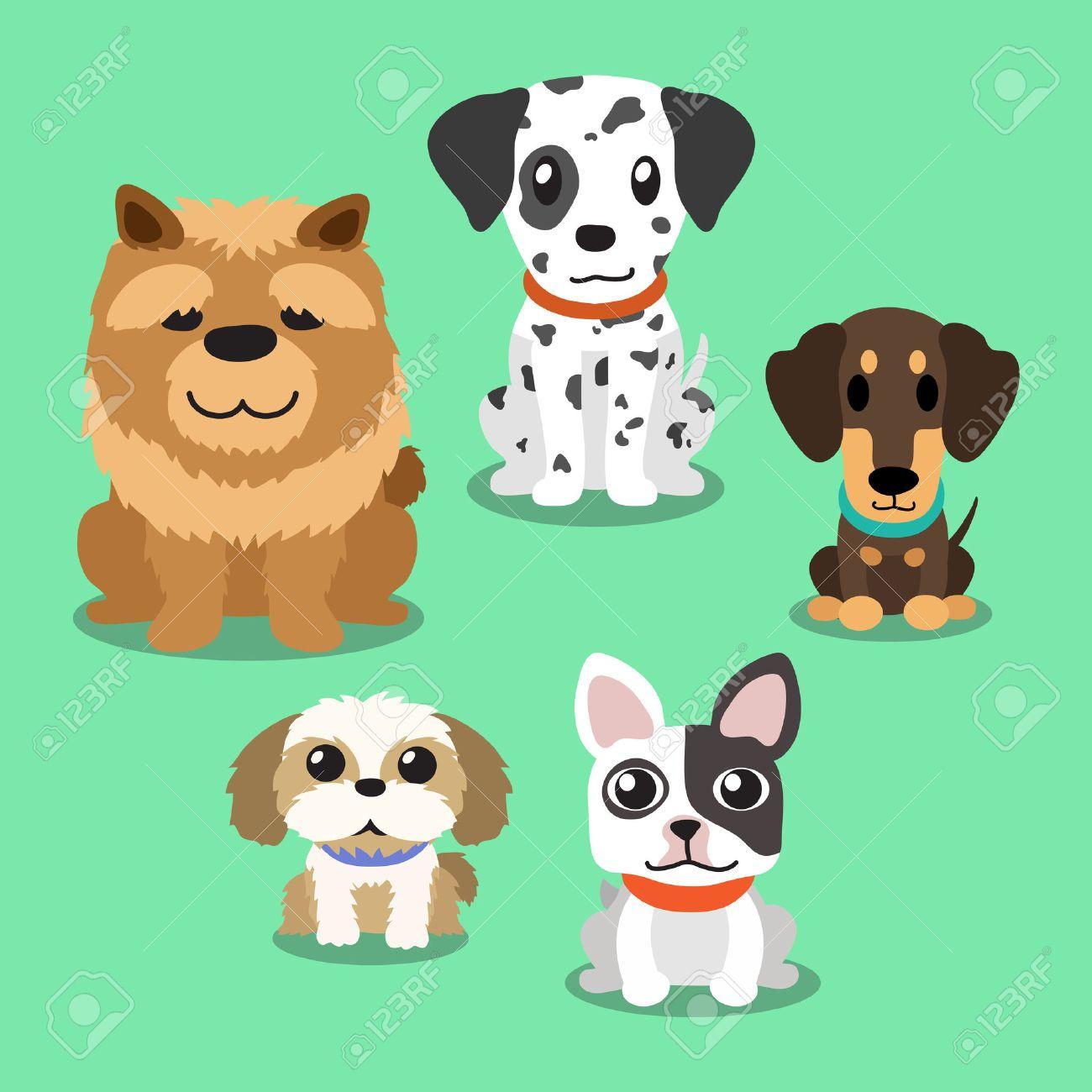 Cartoon dogs standing - 48211276