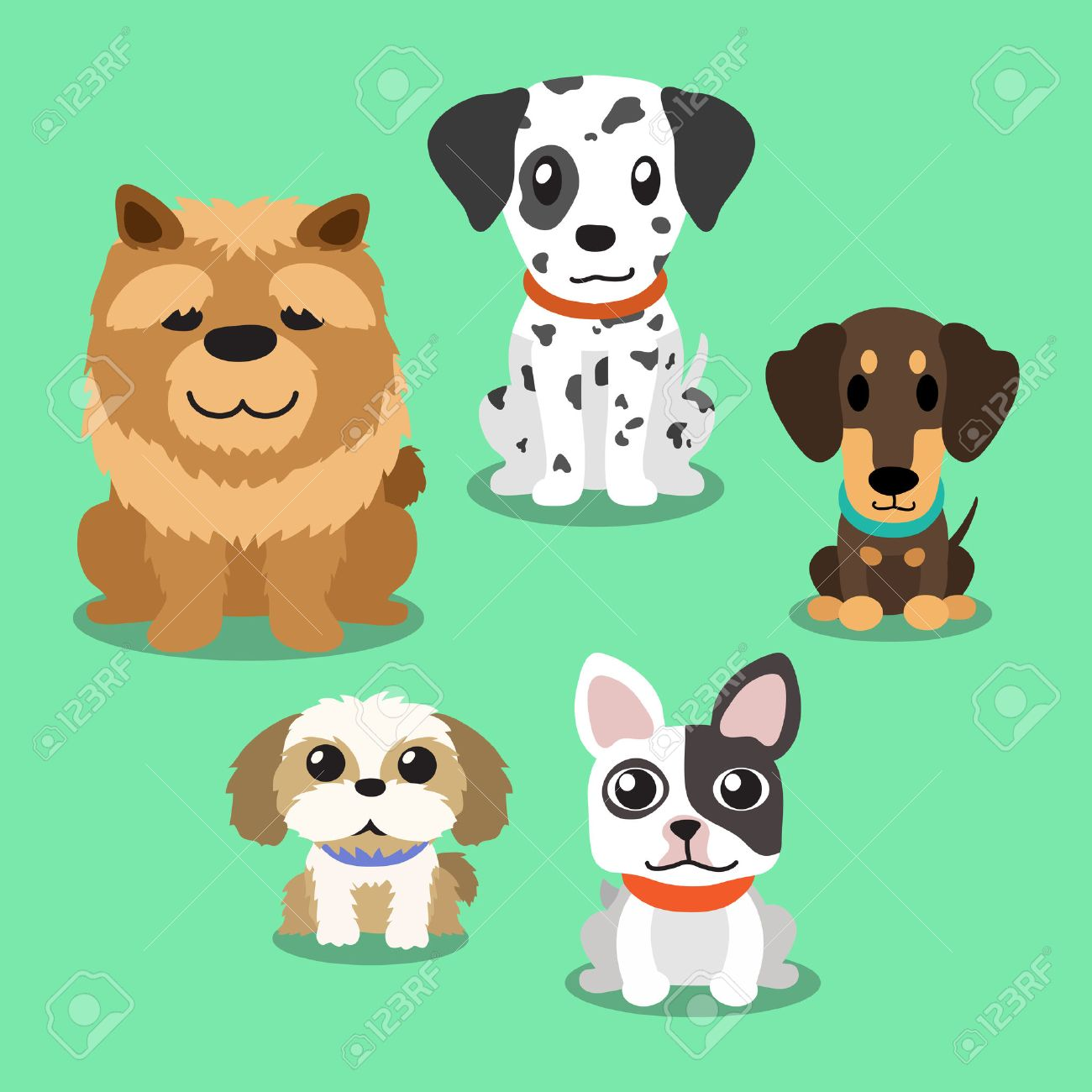 cartoon dogs standing royalty free cliparts vectors and stock