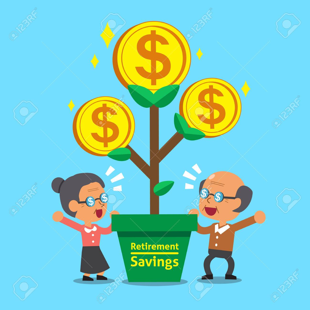 Cartoon Senior People With Retirement Savings Money Tree Royalty Free Cliparts Vectors And Stock Illustration Image 48758040 As you can see, this chart shows cartoons and those who worked on them. cartoon senior people with retirement savings money tree