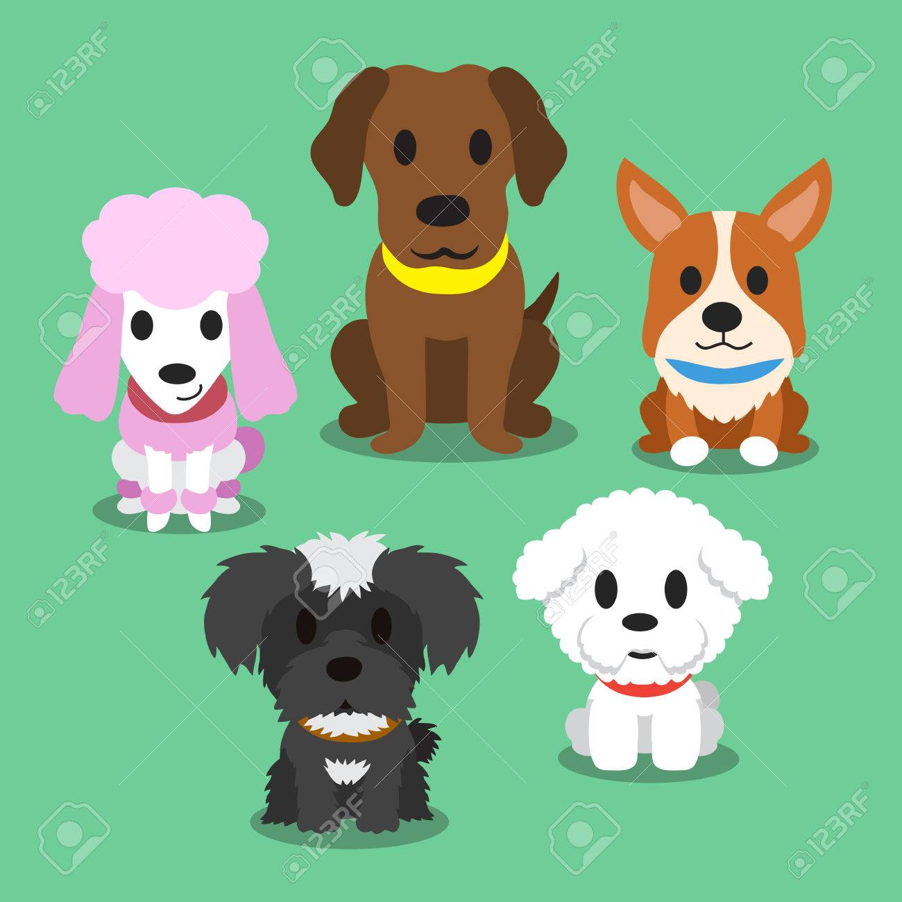 Image of: Names Cartoon Dogs Standing Stock Vector 50264110 123rfcom Cartoon Dogs Standing Royalty Free Cliparts Vectors And Stock
