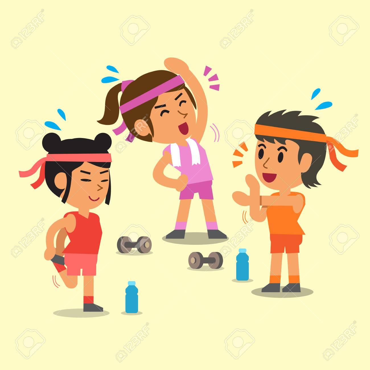 Cartoon sport women - 51327954