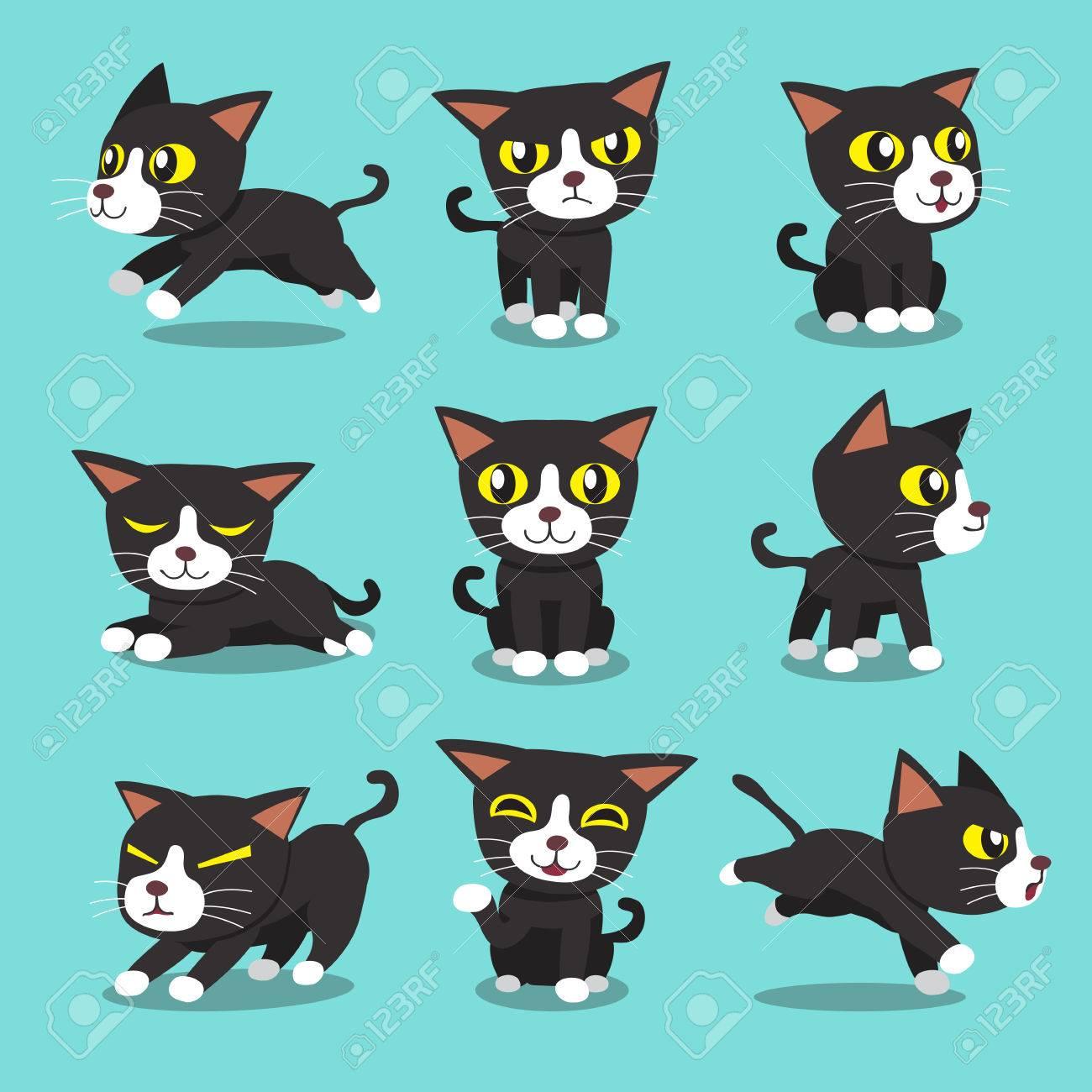 Cartoon character cat poses - 53668481