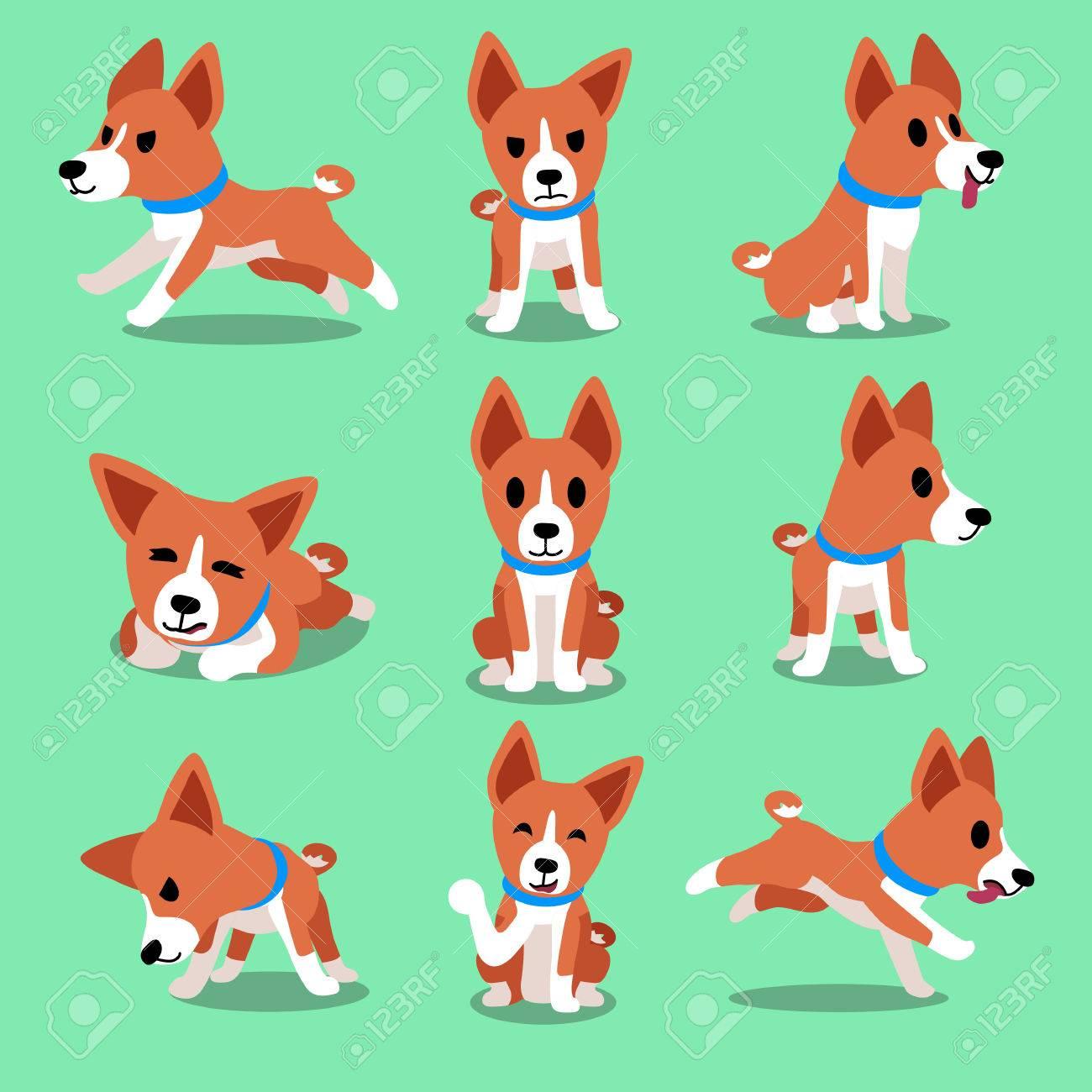 Cartoon character basenji dog poses - 55807631