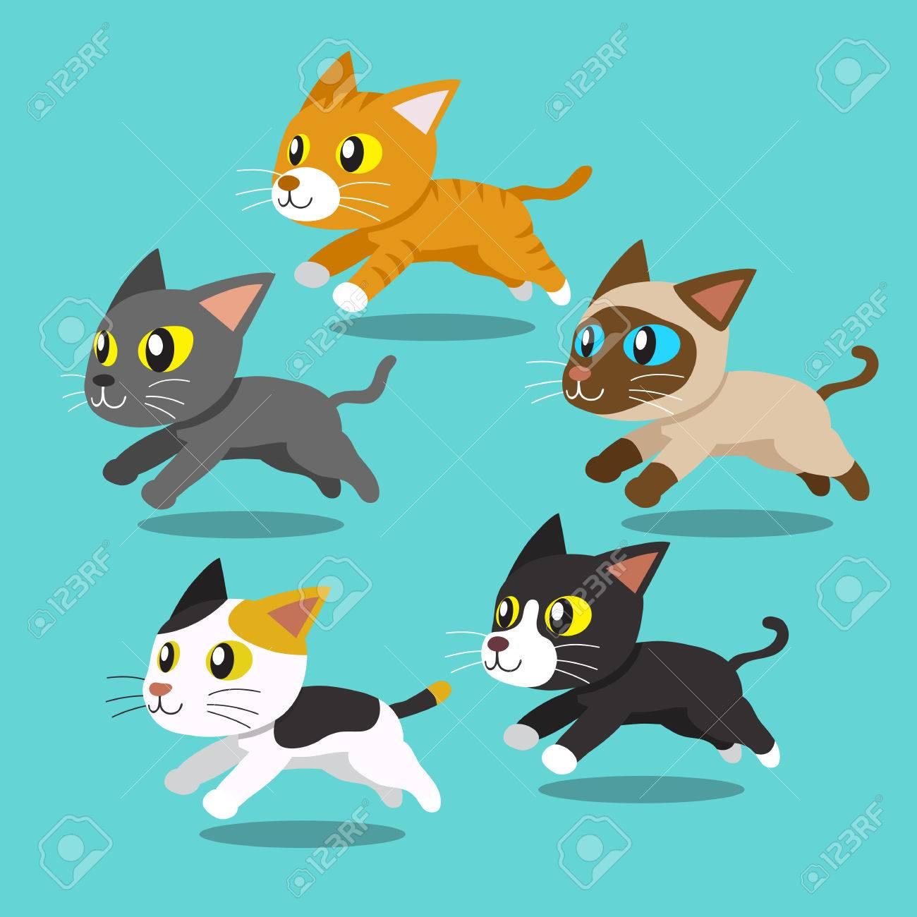 Cartoon Cats Running Royalty Free Cliparts Vectors And Stock Illustration Image 56791567