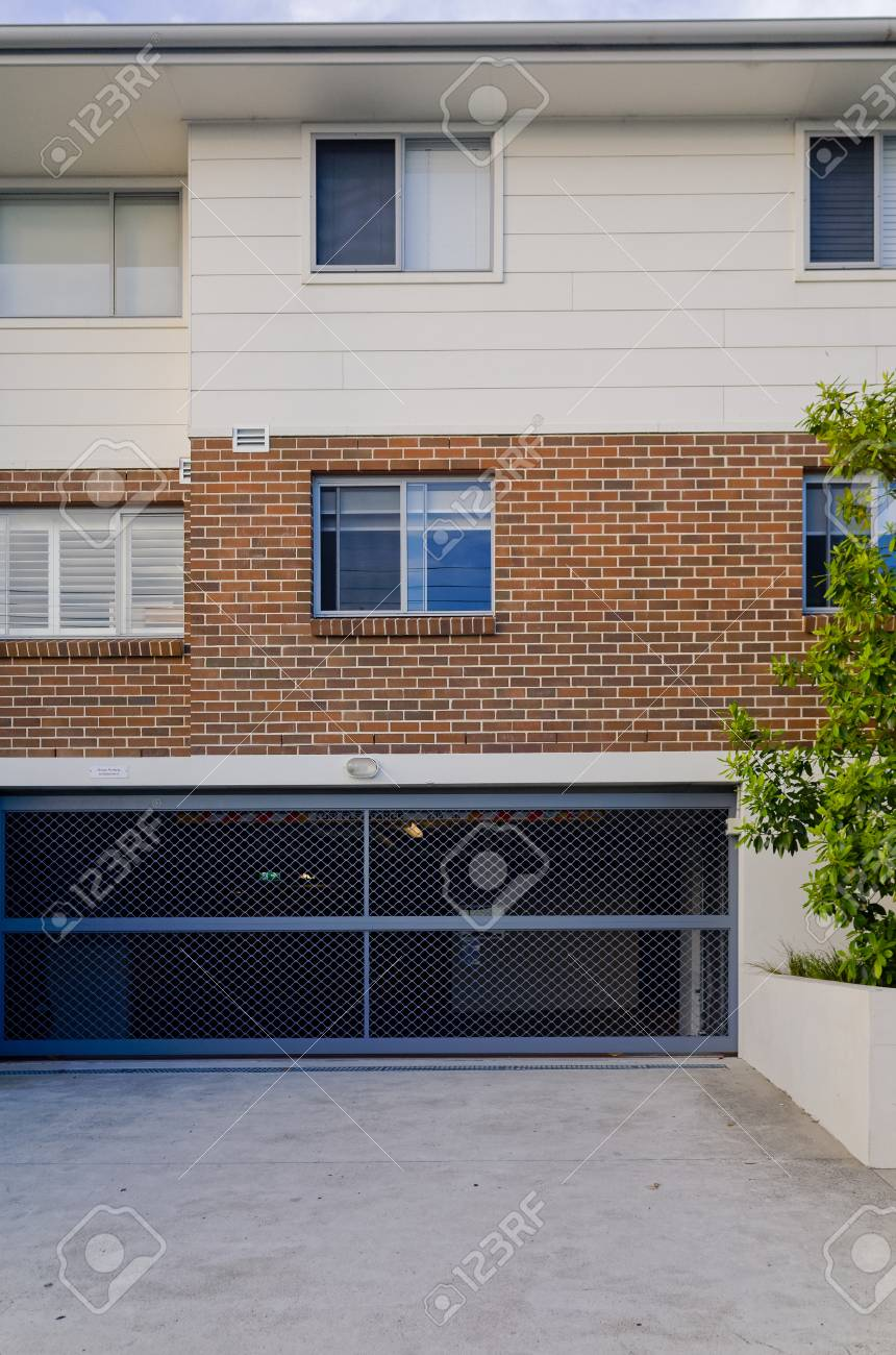 Modern Residential Apartment Building Exterior With Windows And