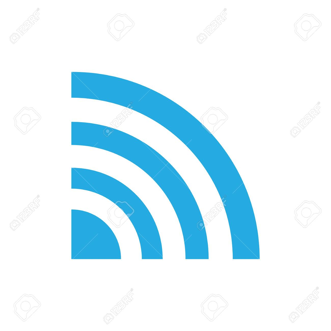 Wireless Network Symbol Of Wifi Icon Vector Illustration Royalty