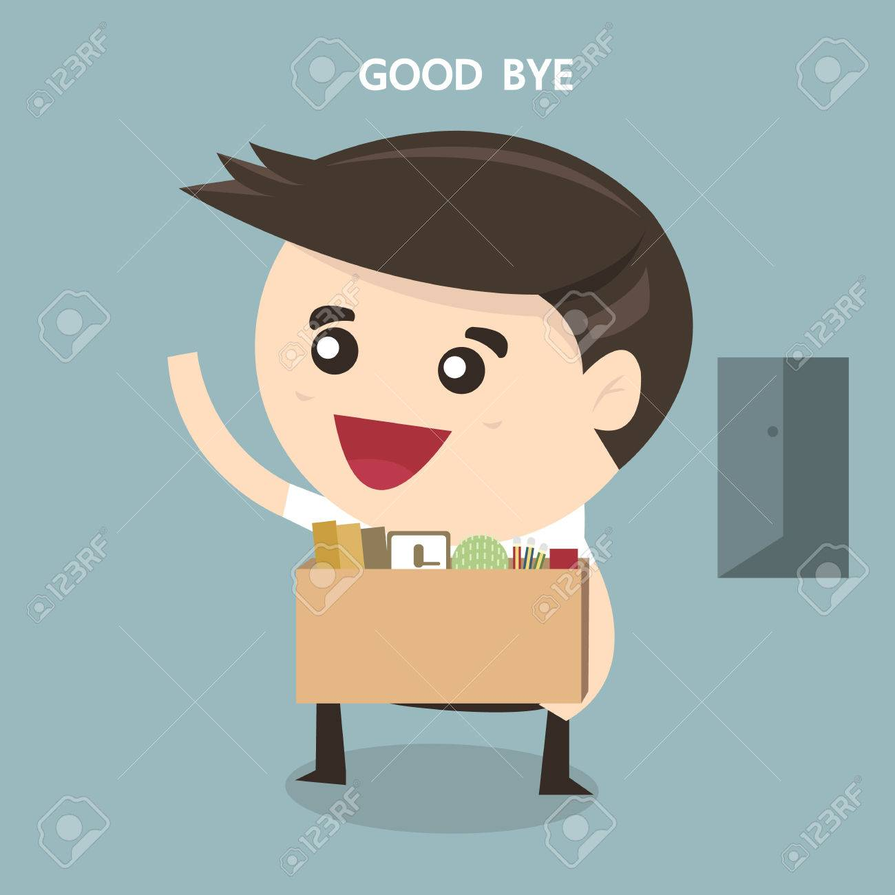 businessman leaving job vector flat design royalty cliparts businessman leaving job vector flat design stock vector 49335601