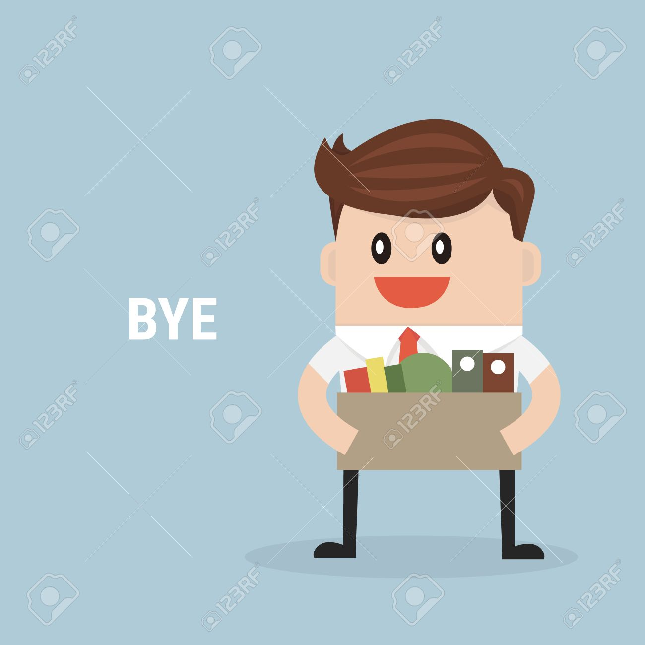 businessman leaving job vector flat design royalty cliparts businessman leaving job vector flat design stock vector 49683490