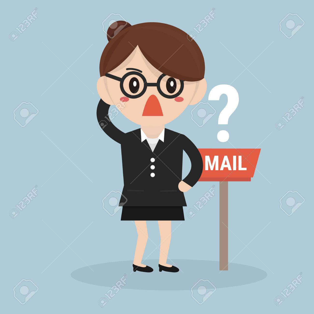 Waiting For Mail >> Businesswoman Waiting For Mail Royalty Free Cliparts Vectors And